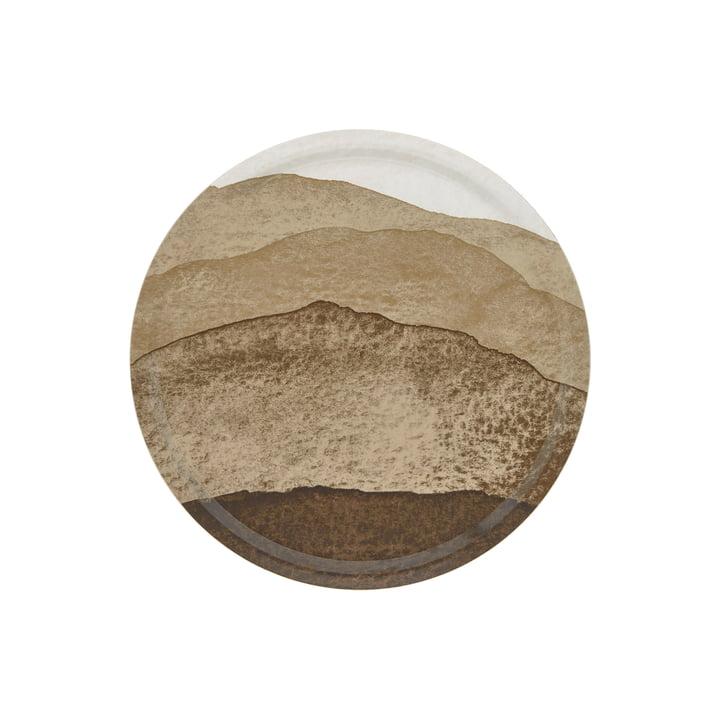 Joiku Tablett von Marimekko in den Farben braun / dunkelblau / beige