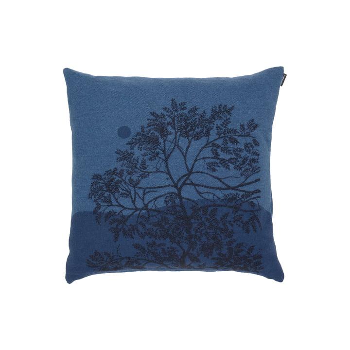 Puu Kuutamossa Kissenbezug von Marimekko in den Farben graublau / blau / schwarz