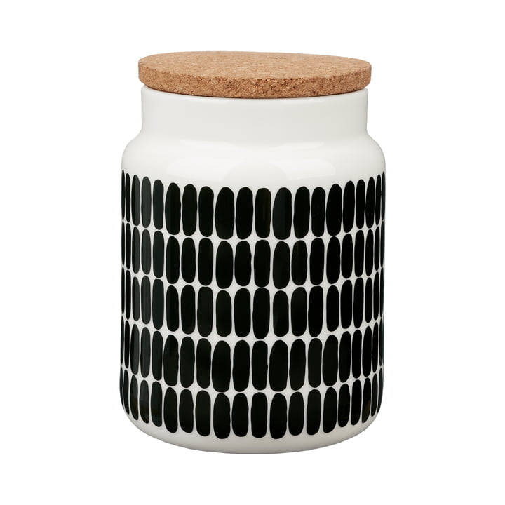 Alku Aufbewahrungsdose von Marimekko in den Farben weiß / grün