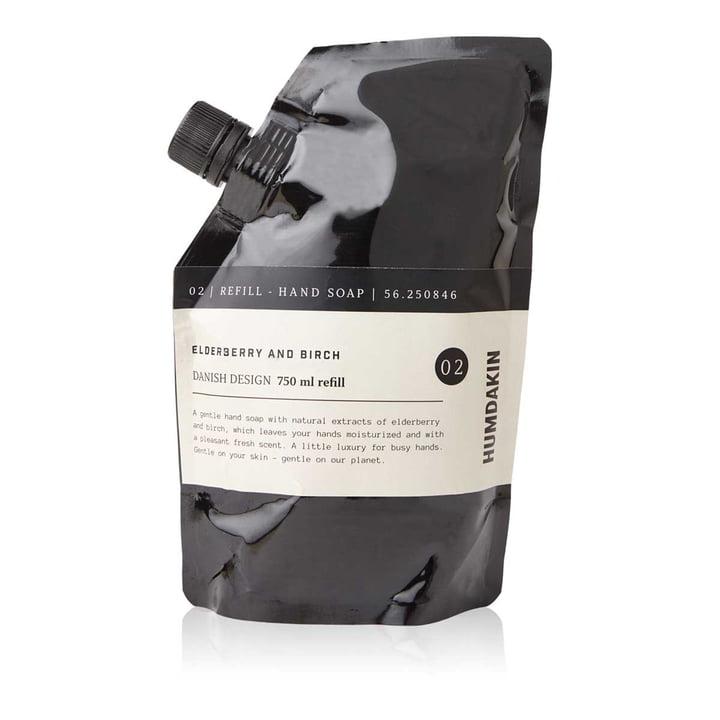 Das Nachfüllpack Handseife von Humdakin, 750 ml, Holunderbeere und Birke