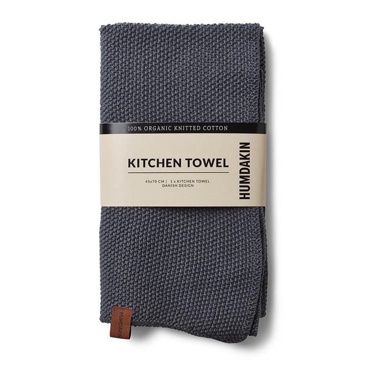 Das Küchenhandtuch aus Strick von Humdakin, 45 x 70 cm, dark ash