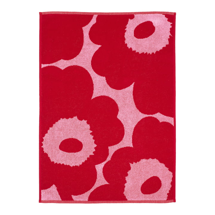 Marimekko - Unikko Handtuch 50 x 100 cm, pink / rot