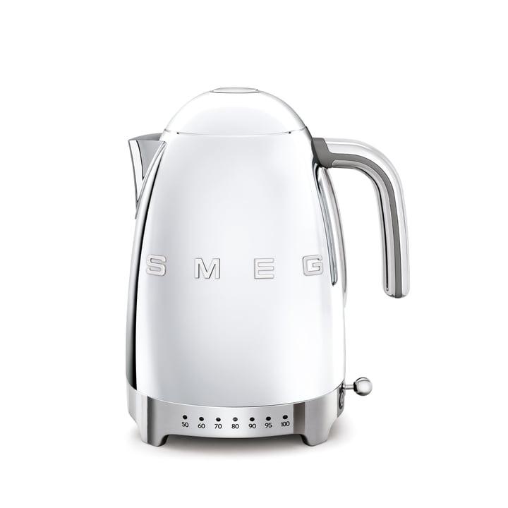Wasserkocher KLF04 (variable Temperatursteuerung), 1,7 l von Smeg in chrom