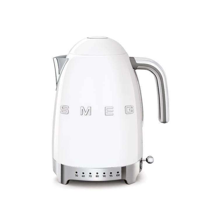 Wasserkocher KLF04 (variable Temperatursteuerung) 1,7 l von Smeg in weiß