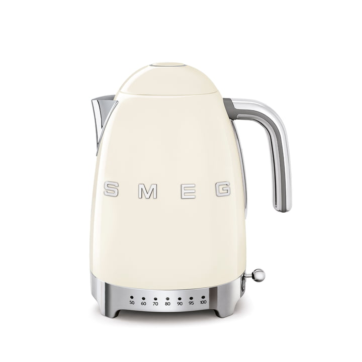 Wasserkocher KLF04 (variable Temperatursteuerung), 1,7 l von Smeg in creme