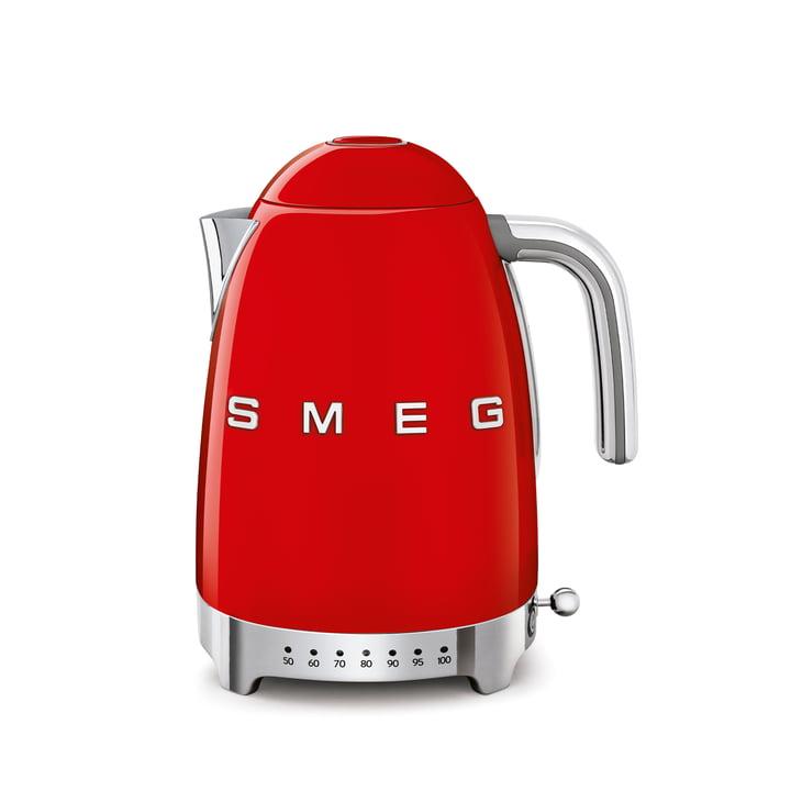 Wasserkocher KLF04 (variable Temperatursteuerung), 1,7 l von Smeg in rot