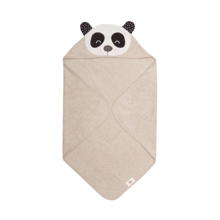 Das Penny Panda Baby Kapuzenhandtuch von Södahl, 80 x 80 cm, natur