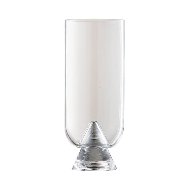 Die Glacies Vase von AYTM, Ø 10,6 x H 23,5 cm, klar