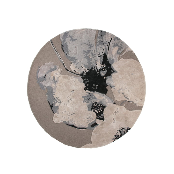 Der Floreo Teppich von AYTM, Ø 130 cm, multi