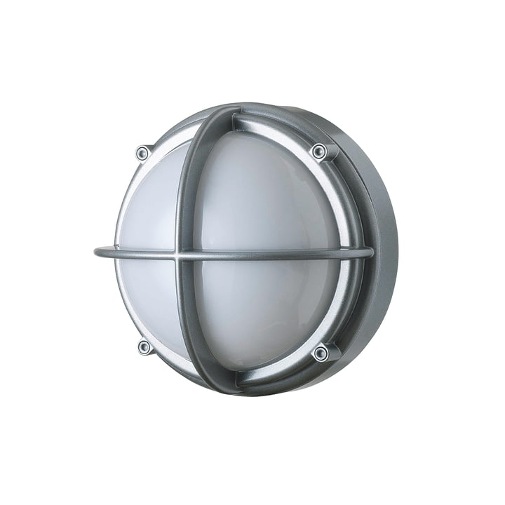 Skot LED Outdoor Wandleuchte 3000 K 6.5 W, aluminium / opalweiß von Louis Poulsen