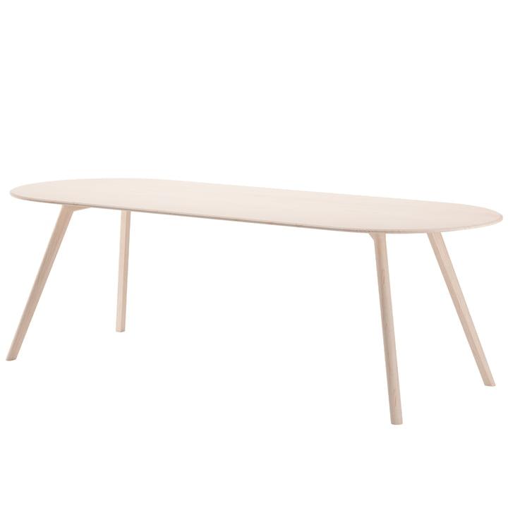 Meyer Tisch Rounded XLarge 240 x 92 cm, Esche gewachst mit Weißpigment von Objekte unserer Tage