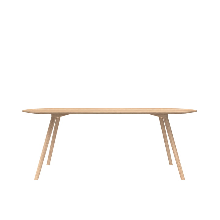 Meyer Tisch Rounded Large 200 x 92 cm, Eiche gewachst von Objekte unserer Tage
