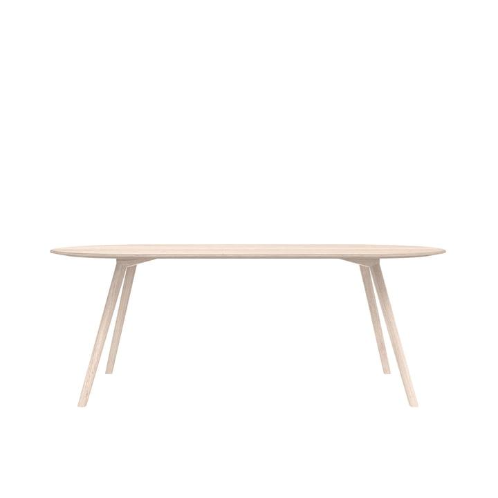 Meyer Tisch Rounded Large 200 x 92 cm, Esche gewachst mit Weißpigment von Objekte unserer Tage