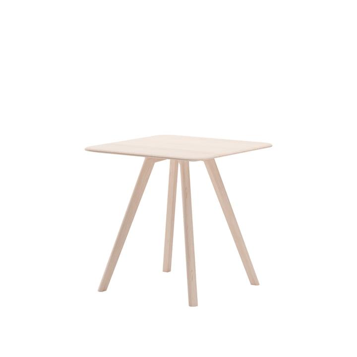 Meyer Tisch Small 75 x 75 cm, Esche gewachst mit Weißpigment von Objekte unserer Tage