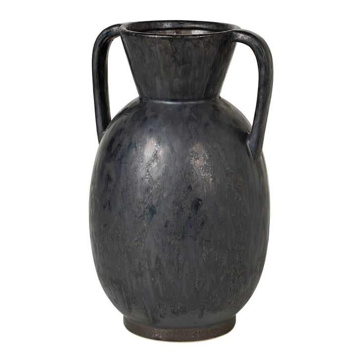 Simi Vase, H 52 cm von Broste Copenhagen in antique grey
