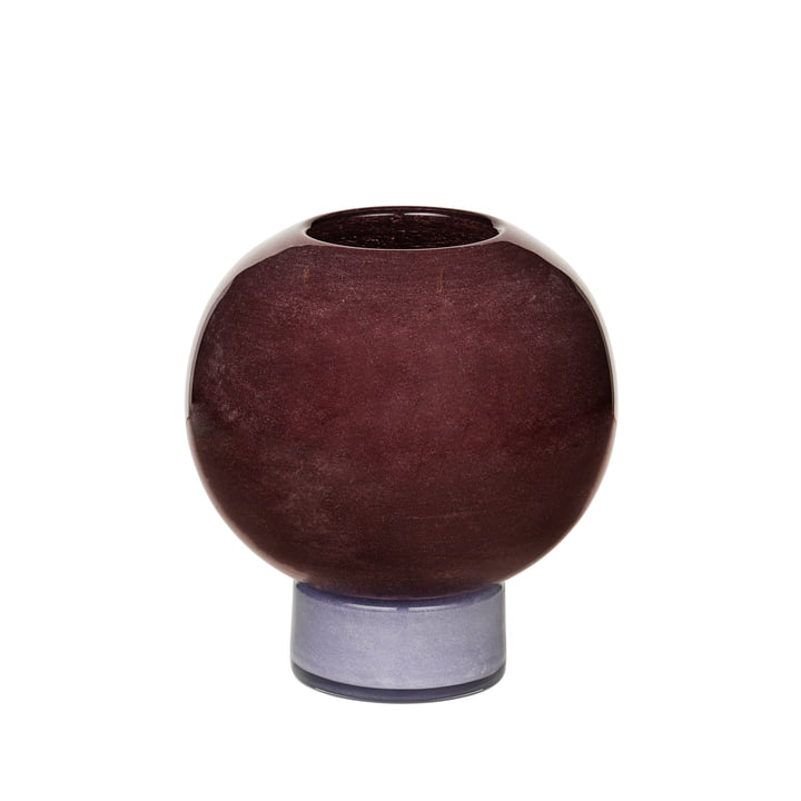 Die Mari Vase von Broste Copenhagen, H 21 cm, puce aubergine / orchid hush