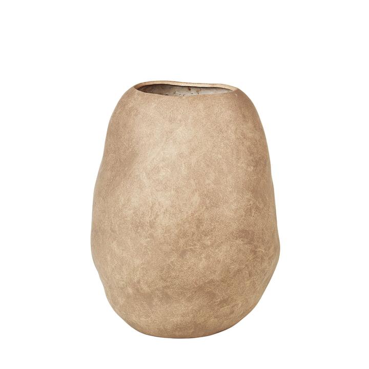 Organic Vase, H 43 cm von Broste Copenhagen in simply taupe