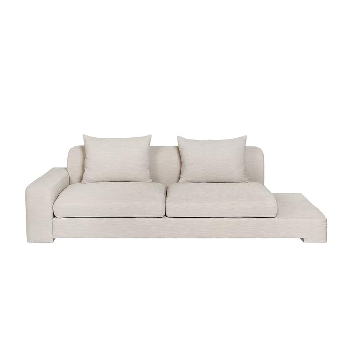 Bay 2-Sitzer Sofa mit Ablage links von Broste Copenhagen in beige