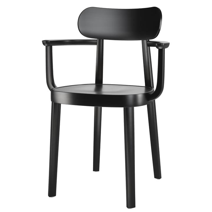 118 MF Armlehnstuhl von Thonet in schwarz