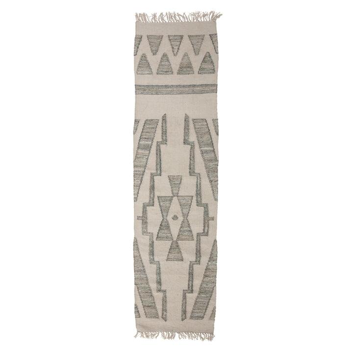 Der Delara Teppichläufer von Bloomingville, 240 x 60 cm, grün