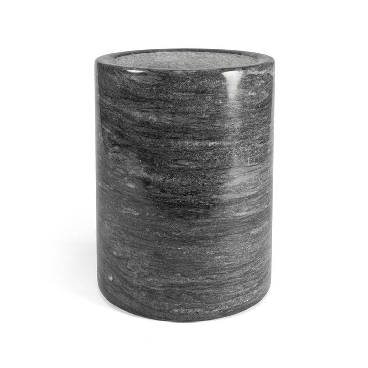 Marmor Utensilienbehälter, dunkelgrau / H 16 cm von yunic