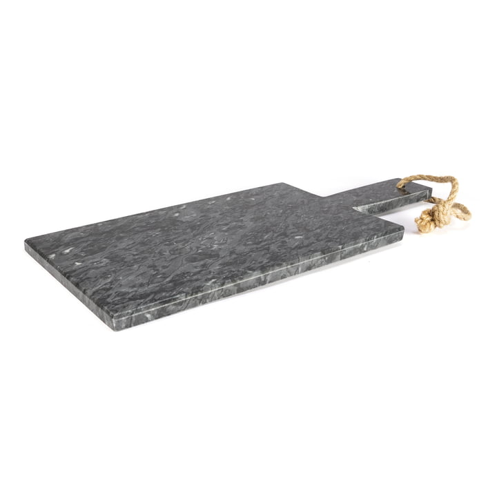 Marmor Schneidebrett, dunkelgrau / 35 x 15 cm von yunic