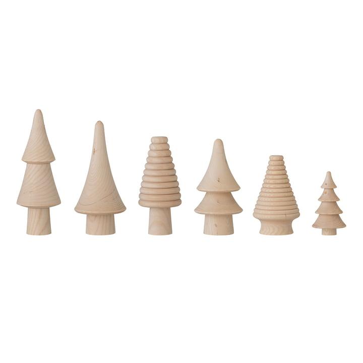 Rias Deko-Weihnachtsbaum (6er-Set) von Bloomingville in natur