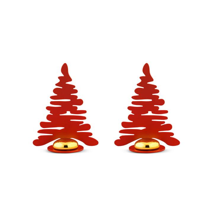 Bark for Christmas Tischkartenhalter (2er-Set) von Alessi in rot
