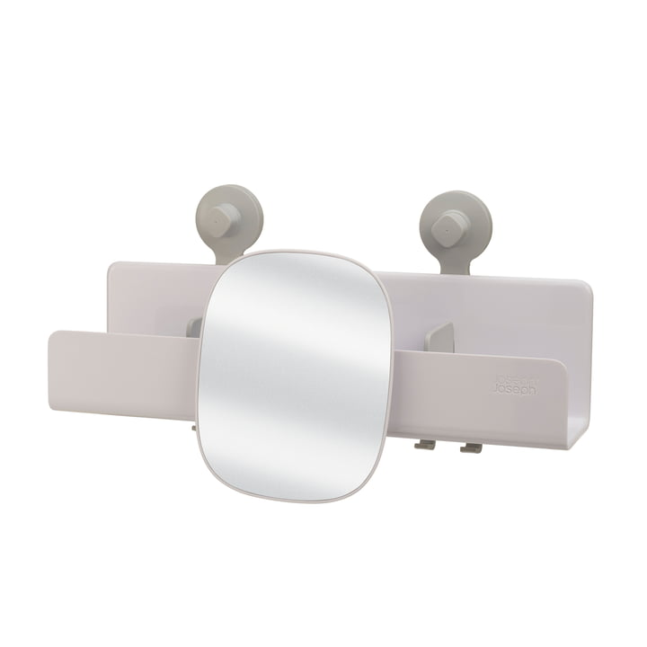 EasyStore Duschablage mit verstellbarem Spiegel groß von Joseph Joseph in weiß
