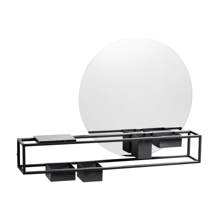 Mirror Box, Ø 50 cm von Woud in schwarz