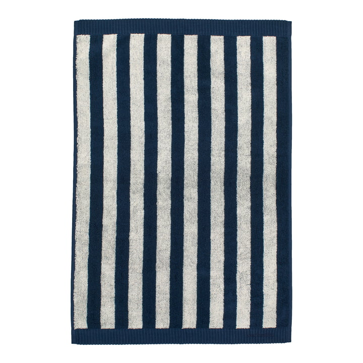 Marimekko - Kaksi Raitaa Handtuch 50 x 70 cm, sand / dunkelblau