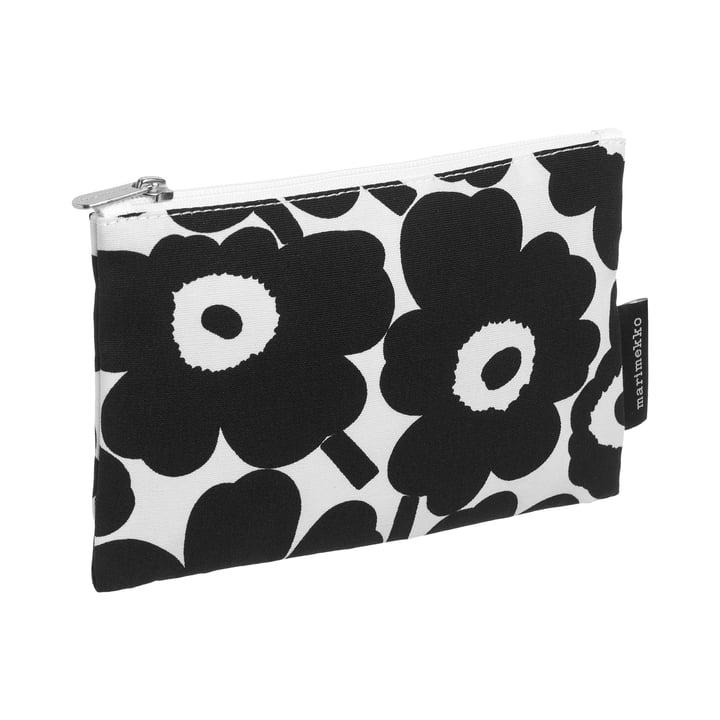 Marimekko - Kaika Mini Unikko Kosmetiktasche, weiß / schwarz