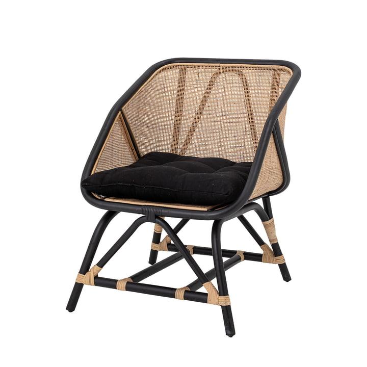 Loue Lounge Sessel von Bloomingville in Rattan natur / schwarz