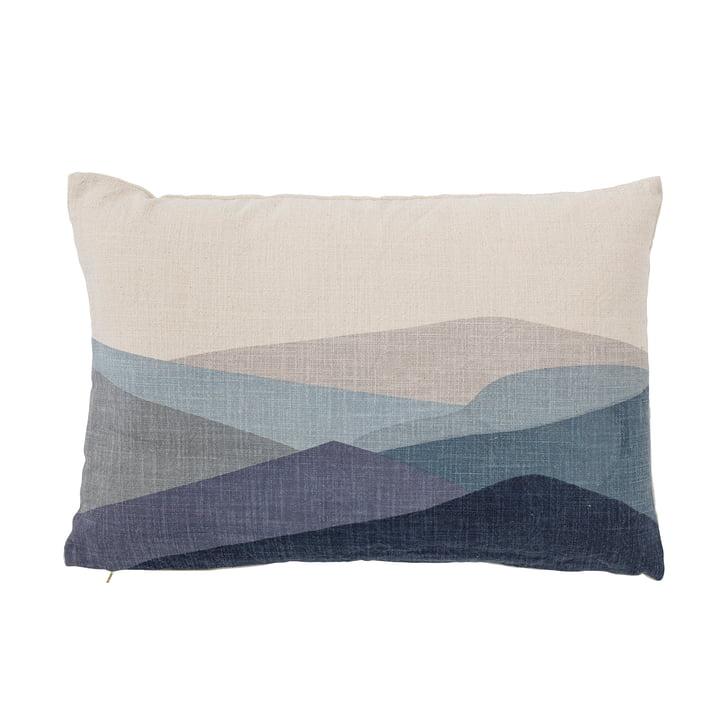 Gaja Kissen 40 x 60 cm von Bloomingville in weiß / blau