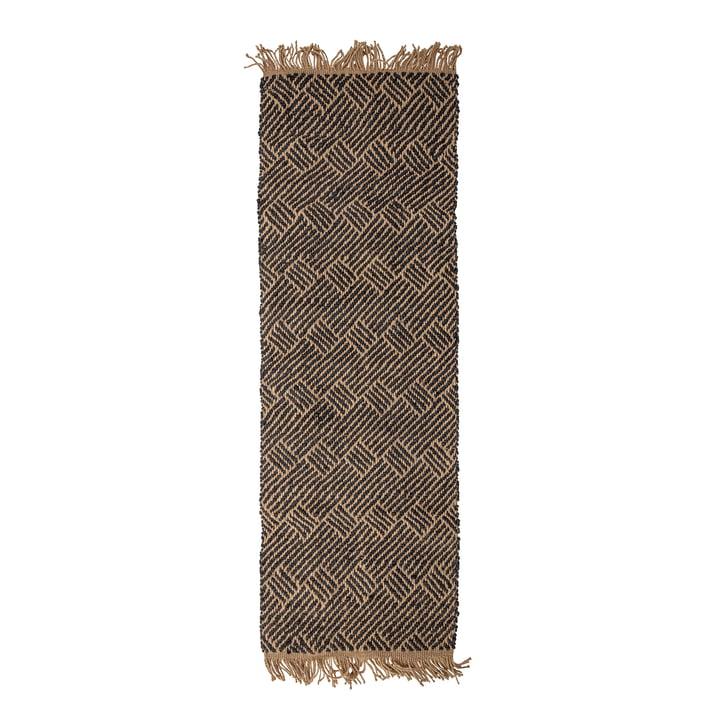 Aby Jute Teppich 70 x 200 cm von Bloomingville in schwarz / natur