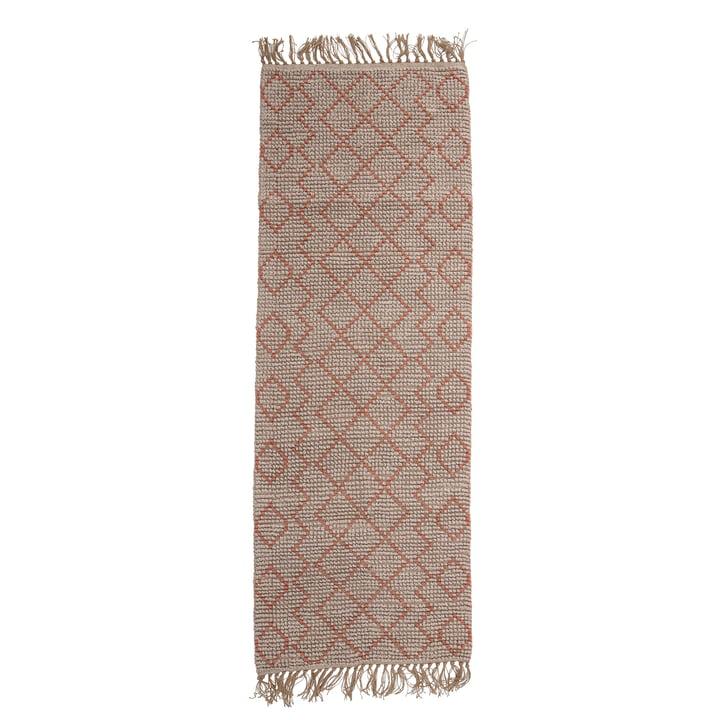 Abriella Jute Teppich 70 x 200 cm von Bloomingville in natur / rosa
