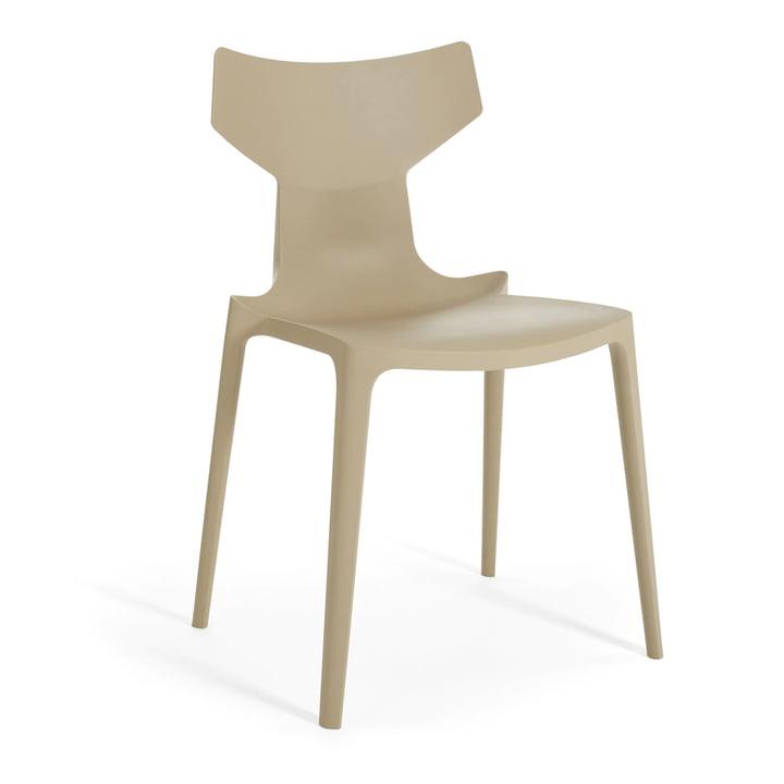 Re-Chair Stuhl von Kartell in taubengrau