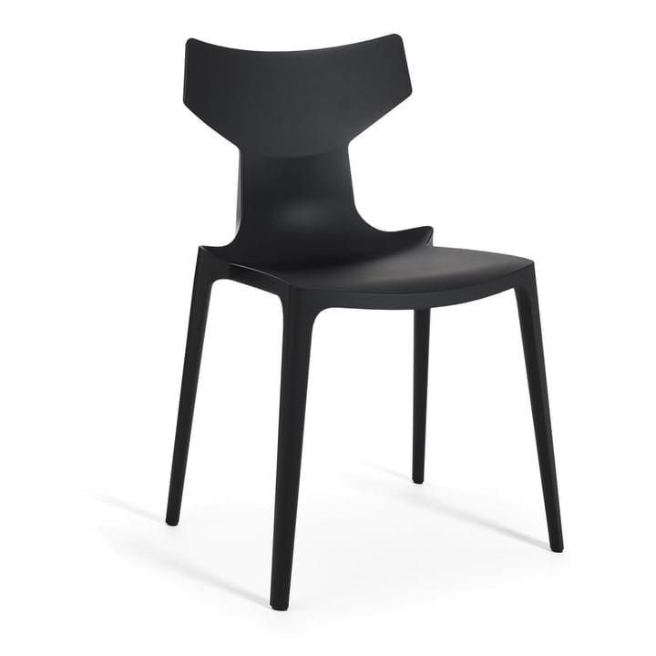 Re-Chair Stuhl von Kartell in schwarz