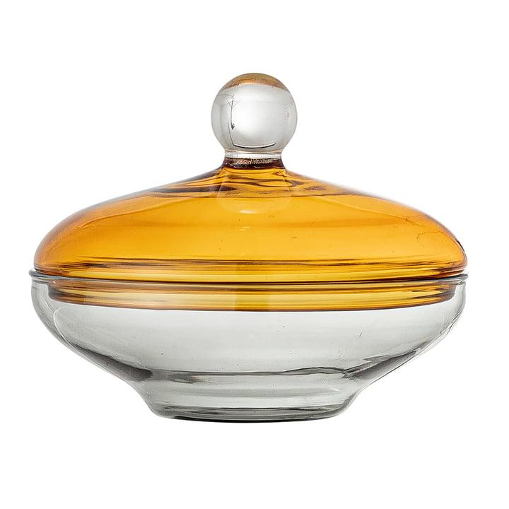 Danni Bonbonniere, H 8 cm, gelb / klar von Bloomingville