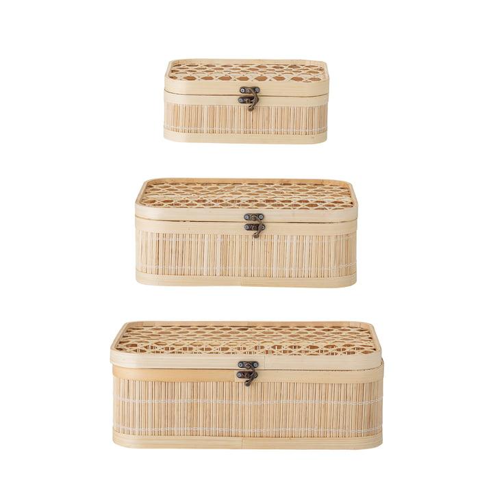 Jach Aufbewahrungsbox, Bambus natur (3er-Set) von Bloomingville