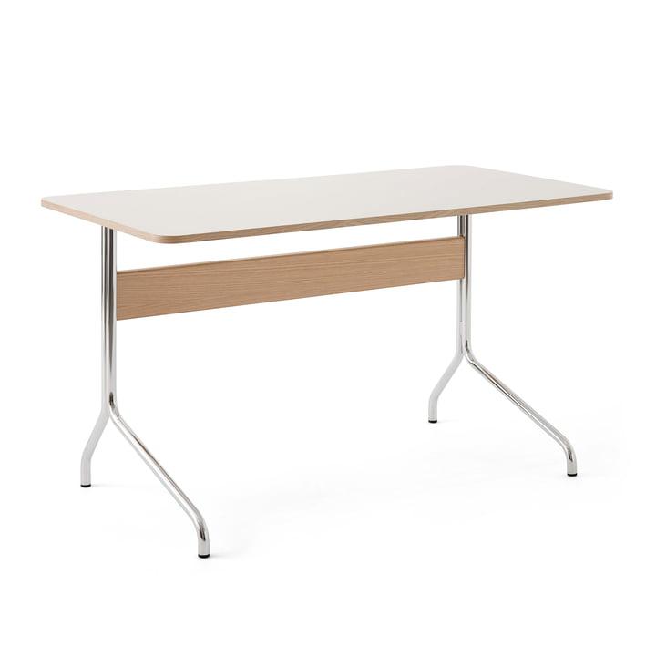 Pavilion AV16 Schreibtisch, 130 x 65 cm, Eiche / Linoleum Mushroom (4176) von &Tradition