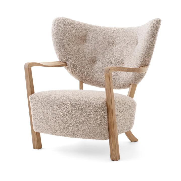 Wulff ATD2 Lounge Chair, Eiche geölt / beige (Karakorum 003) von &Tradition