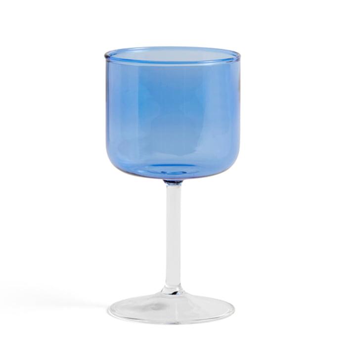 Tint Weinglas von Hay in der Farbe blau / klar im 2er-Set