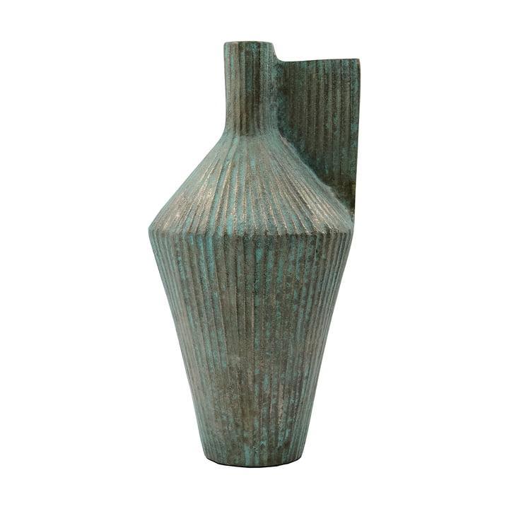 Cleo Vase, H 30 cm von House Doctor, antikes Gold-Finish