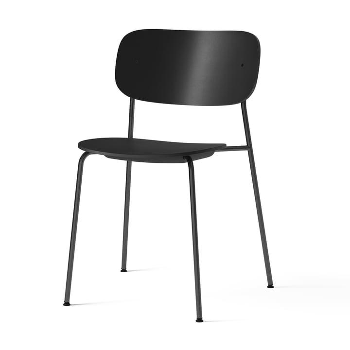 Co Dining Recycled Plastic Chair, schwarz von Menu