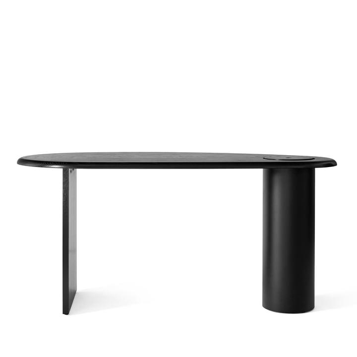 Eclipse Schreibtisch, Eiche dunkel / schwarz von Menu
