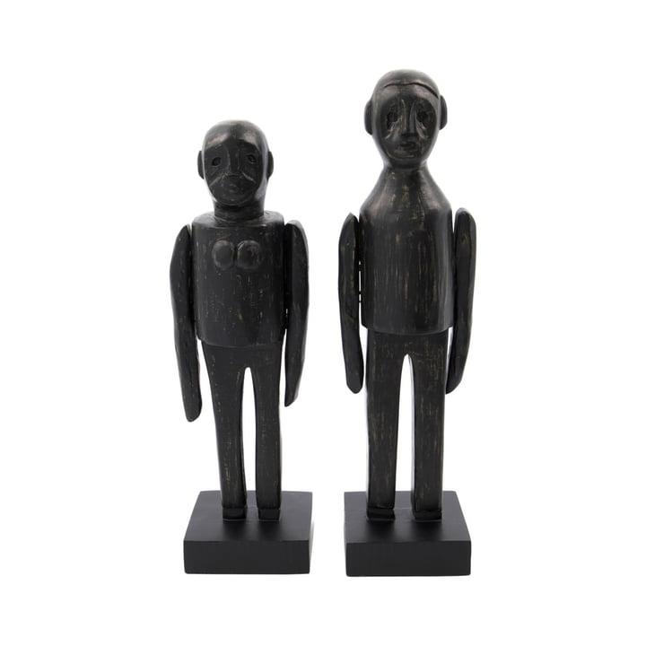 Spouses Skulpturen Paar von House Doctor in schwarz