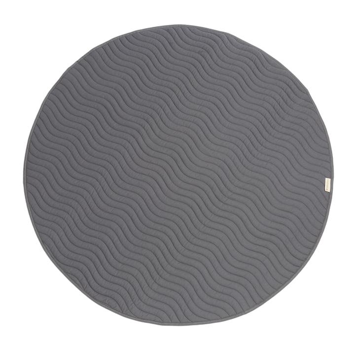 Kiowa Kinderteppich Ø 105 cm von Nobodinoz in slate grey