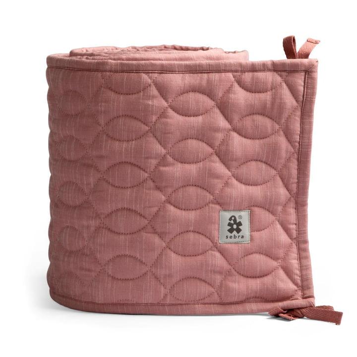 Baby-Bettnestchen von Sebra in abgesteppt / blossom pink