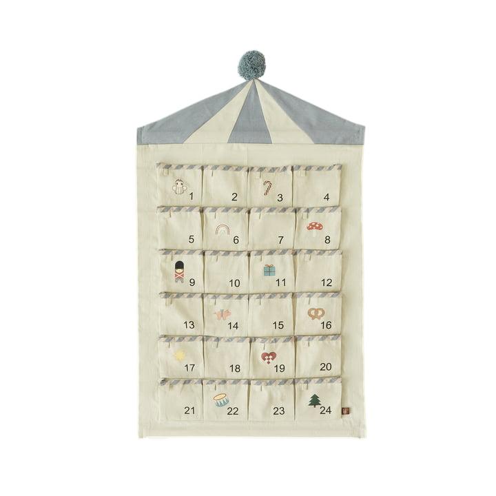 OYOY - Circus Adventkalender, beige / blau